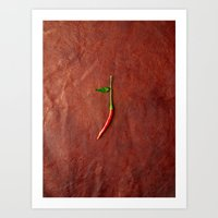 chile Art Prints featuring leather chile by Sanchphoto