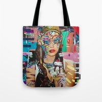 chelsea Tote Bags featuring Chelsea by Katy Hirschfeld