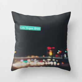 Las Vegas Boulevard ... Throw Pillow