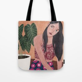 Sitting on the floor Tote Bag