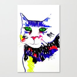 Colorful Cat Canvas Print