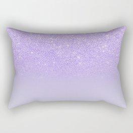 Modern purple sparkles ombre glitter lilac pastel color block Rectangular Pillow