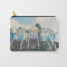 beach huts photograph Carry-All Pouch