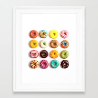 donuts Framed Art Prints featuring Donuts by Lyre Aloise