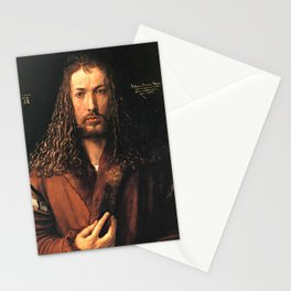 Self-Portrait in a Fur-Collared Robe Stationery Cards