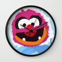 muppets Wall Clocks featuring Animal Muppets Babies by Roe Mesquita