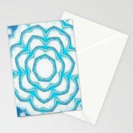 Cyan Glow Kaleidoscope 18 Stationery Cards