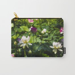 Blooming Lotus Flowers Outdoors Carry-All Pouch