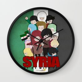 SYRIA - We're With You Wall Clock