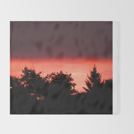 Fire in the Sky  Throw Blanket