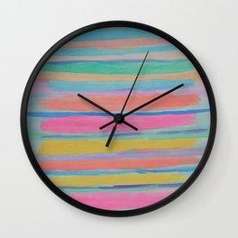 Rainbow Row Abstract Wall Clock