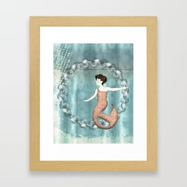 Mermaid Wreath Framed Art Print