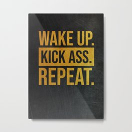 Golden Motivational Quote Metal Print