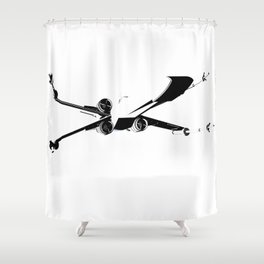 X-Wing Print Shower Curtain