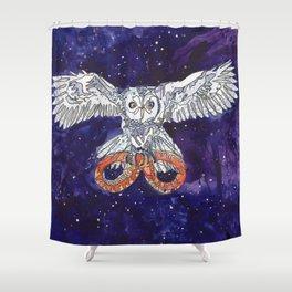 Owl & Snake Shower Curtain