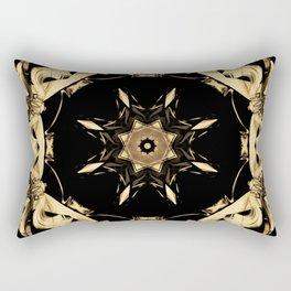 Golden Rosette Rectangular Pillow
