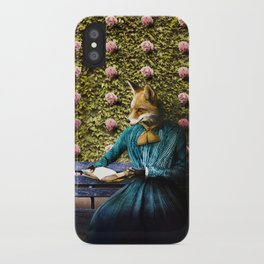 Fiona Fox reading in the garden iPhone Case