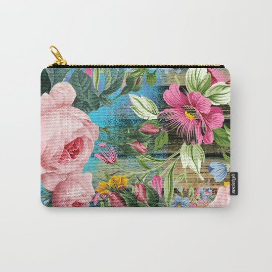 Vintage Flowers #9 Carry-All Pouch