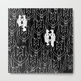 Give me a hug (black pattern) Metal Print