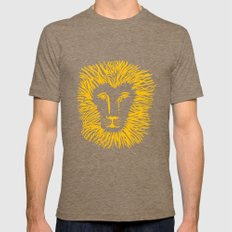 Heart of a Lion Mens Fitted Tee SMALL Tri-Coffee