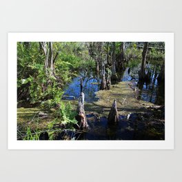 Standing in the Slough Art Print