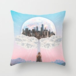 CITY OF PASTEL DREAMS III Throw Pillow