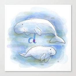 Alphabetical Animals – D for Dugong Canvas Print