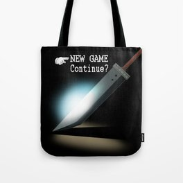 NEW GAME - Continue? Tote Bag