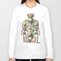 bones Long Sleeve T-shirts featuring BONES by MANDIATO ART & T-SHIRTS