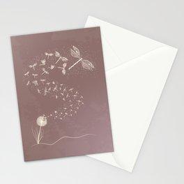Dandelion's metamorphosis Stationery Cards