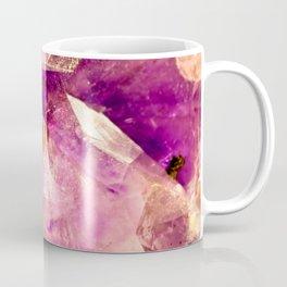 Golden Gleaming Amethyst Crystal Coffee Mug