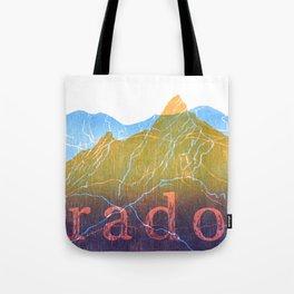 Colorado Mountain Ranges_Boulder Flat Irons + Continental Divide Tote Bag