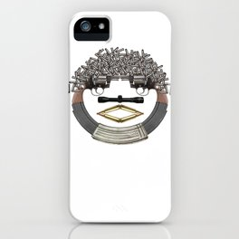 GUN FACE iPhone Case