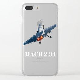 F-14 Mach 2.34 Clear iPhone Case