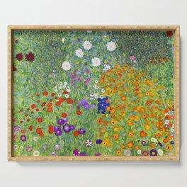 Flower Garden - Gustav Klimt Serving Tray