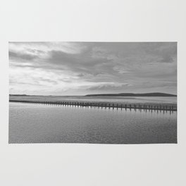 Weston-super-Mare black and white Rug