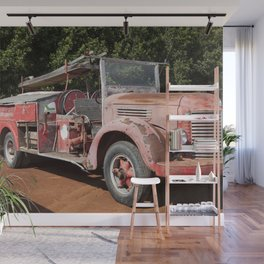 Old Fire Truck Wall Mural