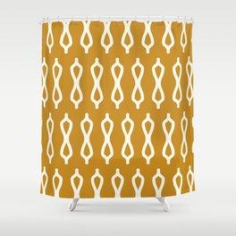Golden Mustard Moroccan Fretwork Auric Gold Shower Curtain