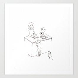 A Tiny Taste Art Print