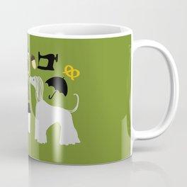 Hound dog, umbrella, sewing machine and chess Coffee Mug