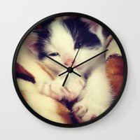 harley Wall Clocks featuring Harley by Queenmissy