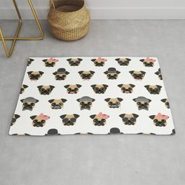 Pugs in Disguise Pattern Rug