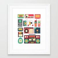 technology Framed Art Prints featuring Retro Technology 1.0 by Ralph Cifra