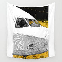 asc 698 - Le tarmac la nuit (Your flight was delayed due to technical problems) Wall Tapestry