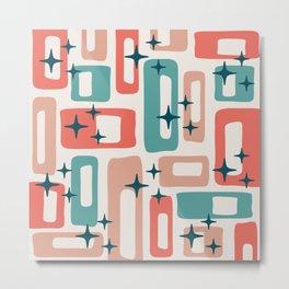 Retro Mid Century Modern Abstract Pattern 238 Metal Print