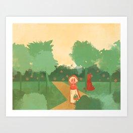Little Red (Ver 2) Art Print