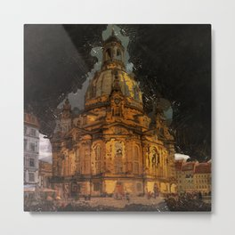 Dresden frauenkirche church saxony Metal Print