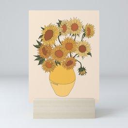 Van Gogh Sunflowers Mini Art Print