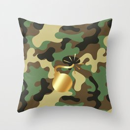 CAMO & GOLD BOMB DIGGITY Throw Pillow