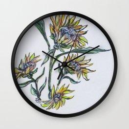 Sunflower Crazy Wall Clock